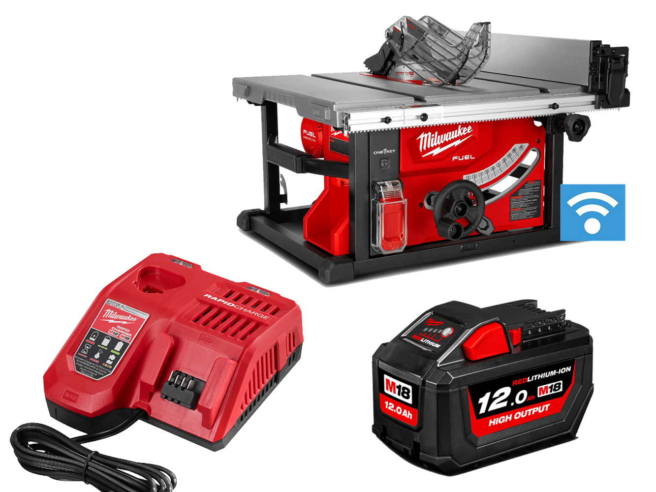 Milwaukee M18FTS210 18V FUEL One-Key Table Saw 210mm - 12.0ah Pack
