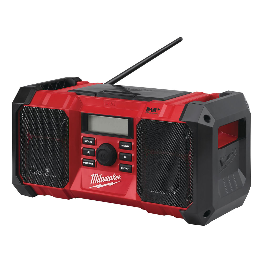 Milwaukee M18JSRDAB+ 18V & 240V DAB+ Jobsite Radio - Body Only