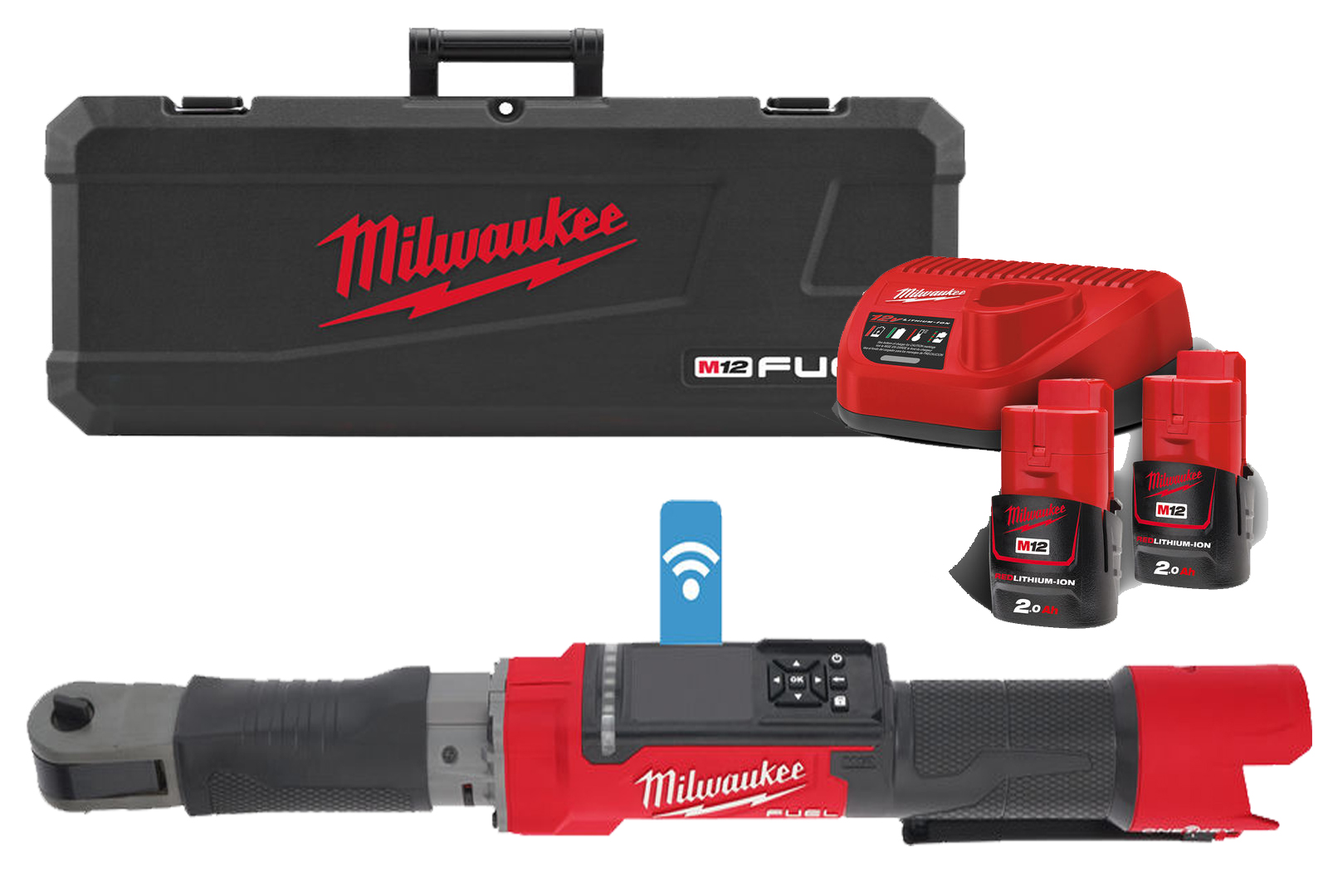 Milwaukee M12ONEFTR12 12V One-Key Brushless 1/2In Digital Torque Wrench - 2.0Ah Pack