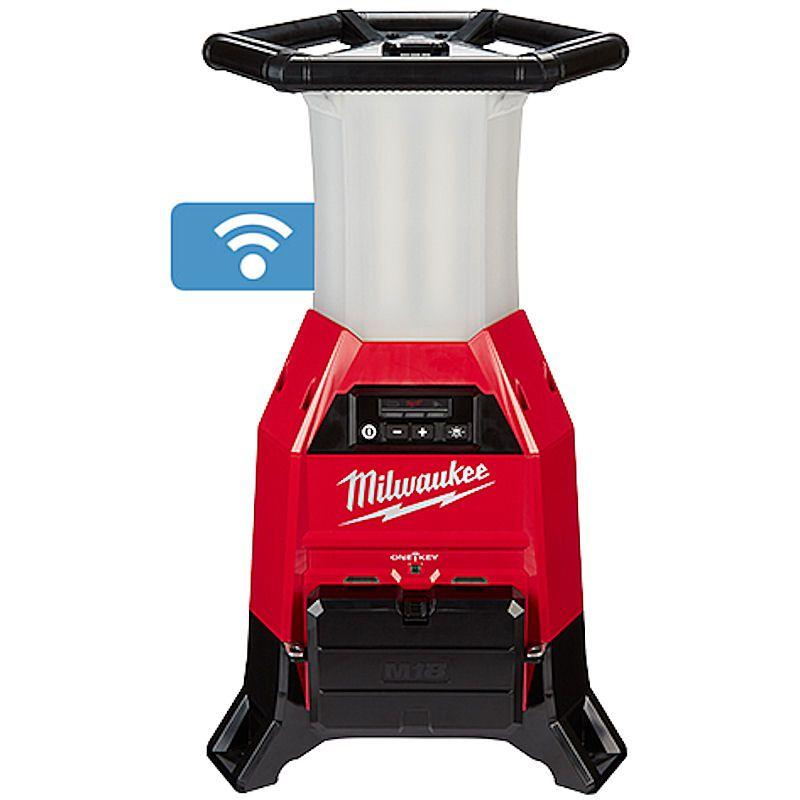 MILWAUKEE ONE- LED COMPACT SITE LIGHT - M18ONESLDP - 18V TWIN & 110V - BODY ONLY