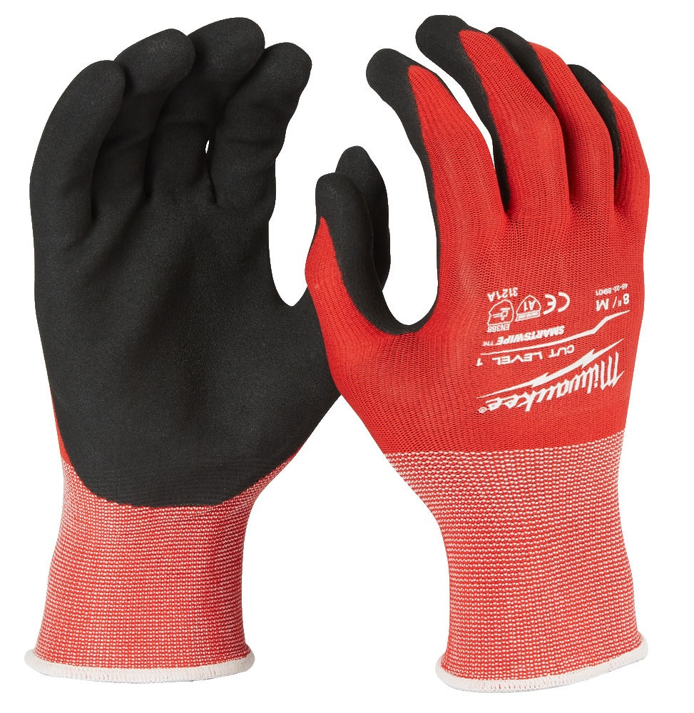 Milwaukee Cut Resistant Gloves - Level 1 Dipped - M/8 - 4932471416