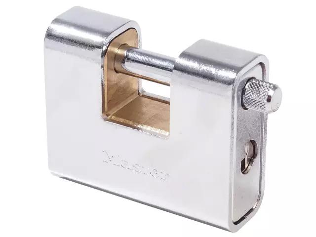 MASTER LOCK ARMOURED 80MM ZINC BODY SHUTTER PADLOCK - 680EURD