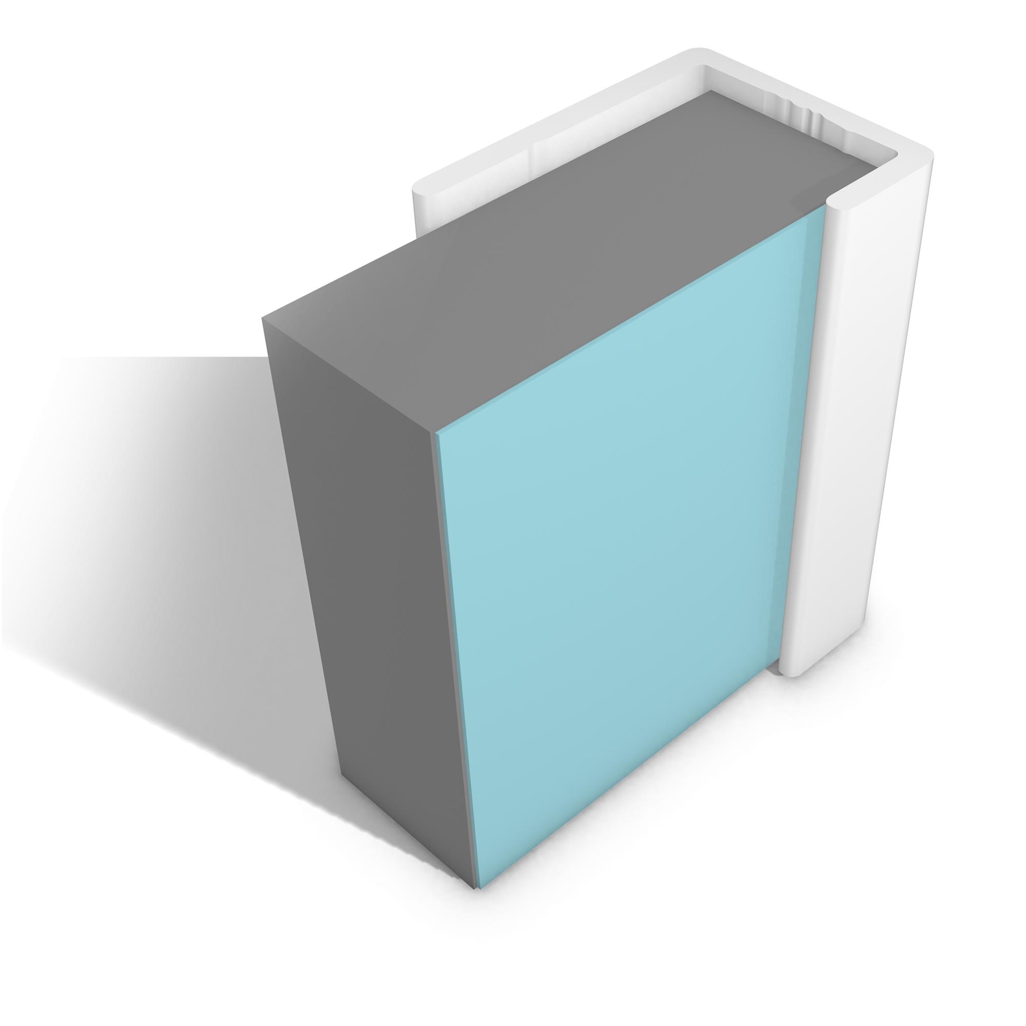 Multipanel Economy Range - Type U End Cap 2.5 Metre - White