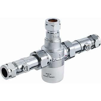 Bristan 15mm TMV3 Thermostatic Blending (Mixing) Valve with Isolators Chrome