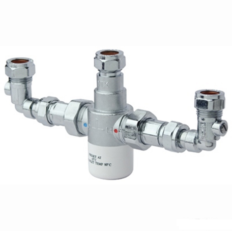 Bristan 15mm TMV3 Thermostatic Blending (Mixing) Valve with Isolation Elbows
