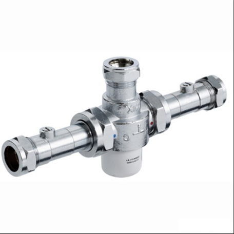 Bristan 22mm TMV3 Thermostatic Blending (Mixing) Valve with Isolators Chrome