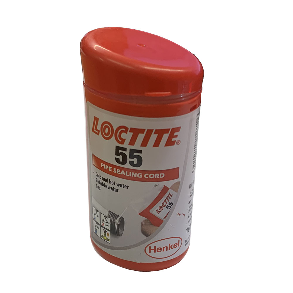 Loctite 55 Pipe Sealing Cord 160 Metres for Water & Gas Applications - 2056938