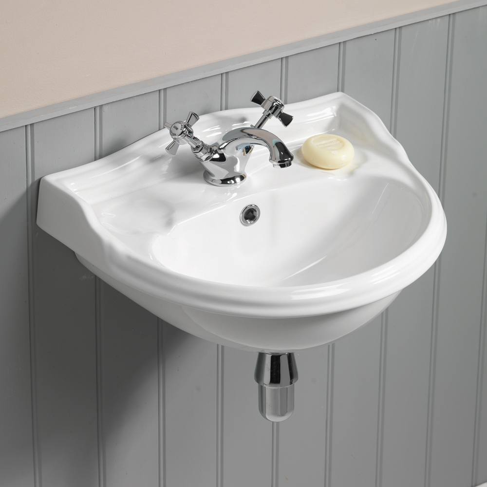 QX MIRABELLE COTTAGE 500MM X 380MM CLOAKROOM BASIN - (1TH)