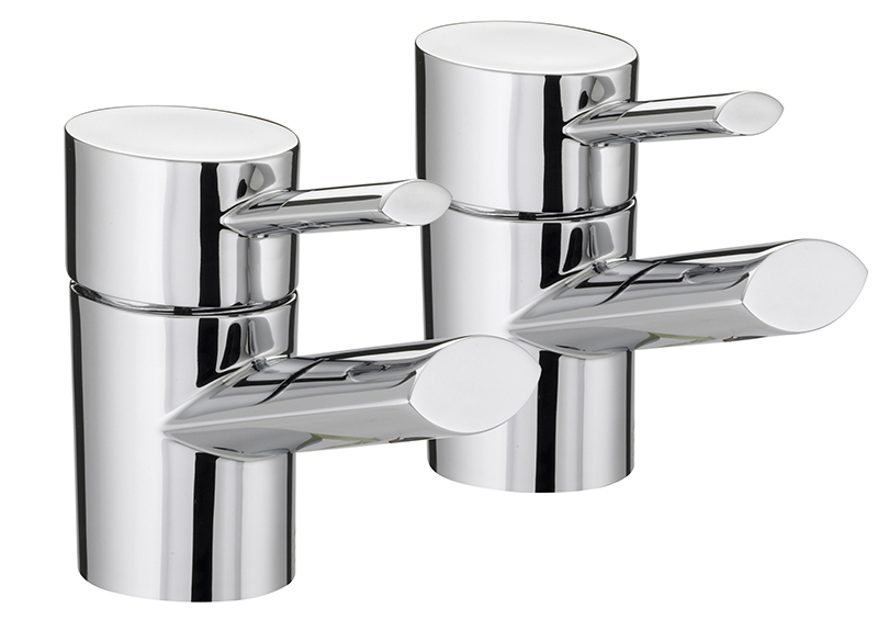 BRISTAN OVAL BASIN TAPS CHROME