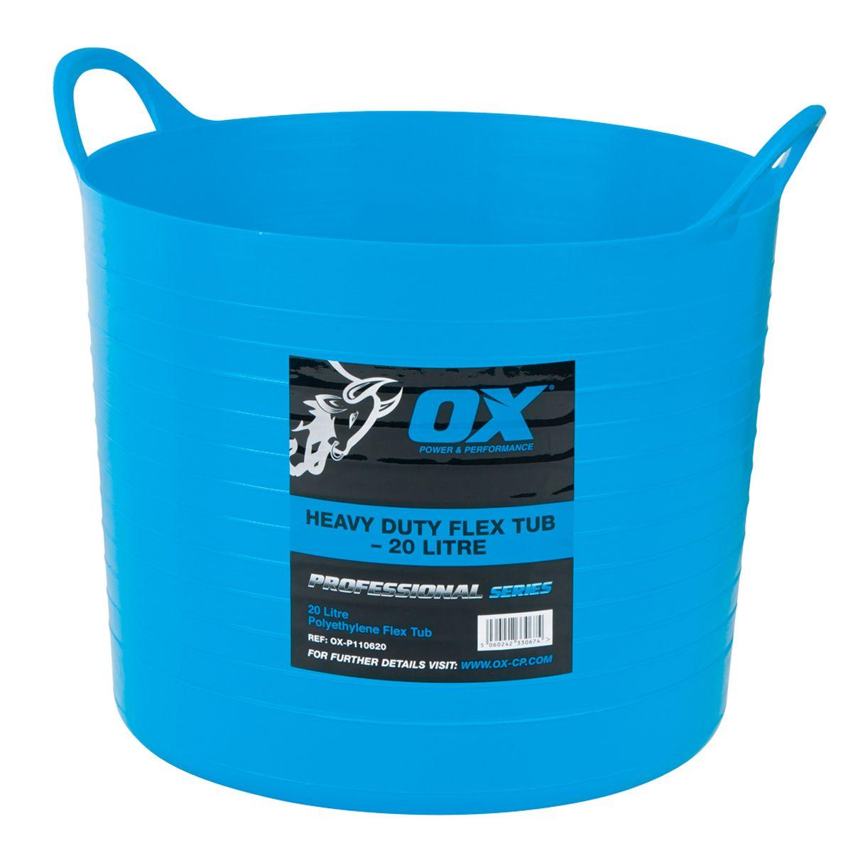 OX PRO HEAVY-DUTY FLEXI TUB 20L - OX-P110620