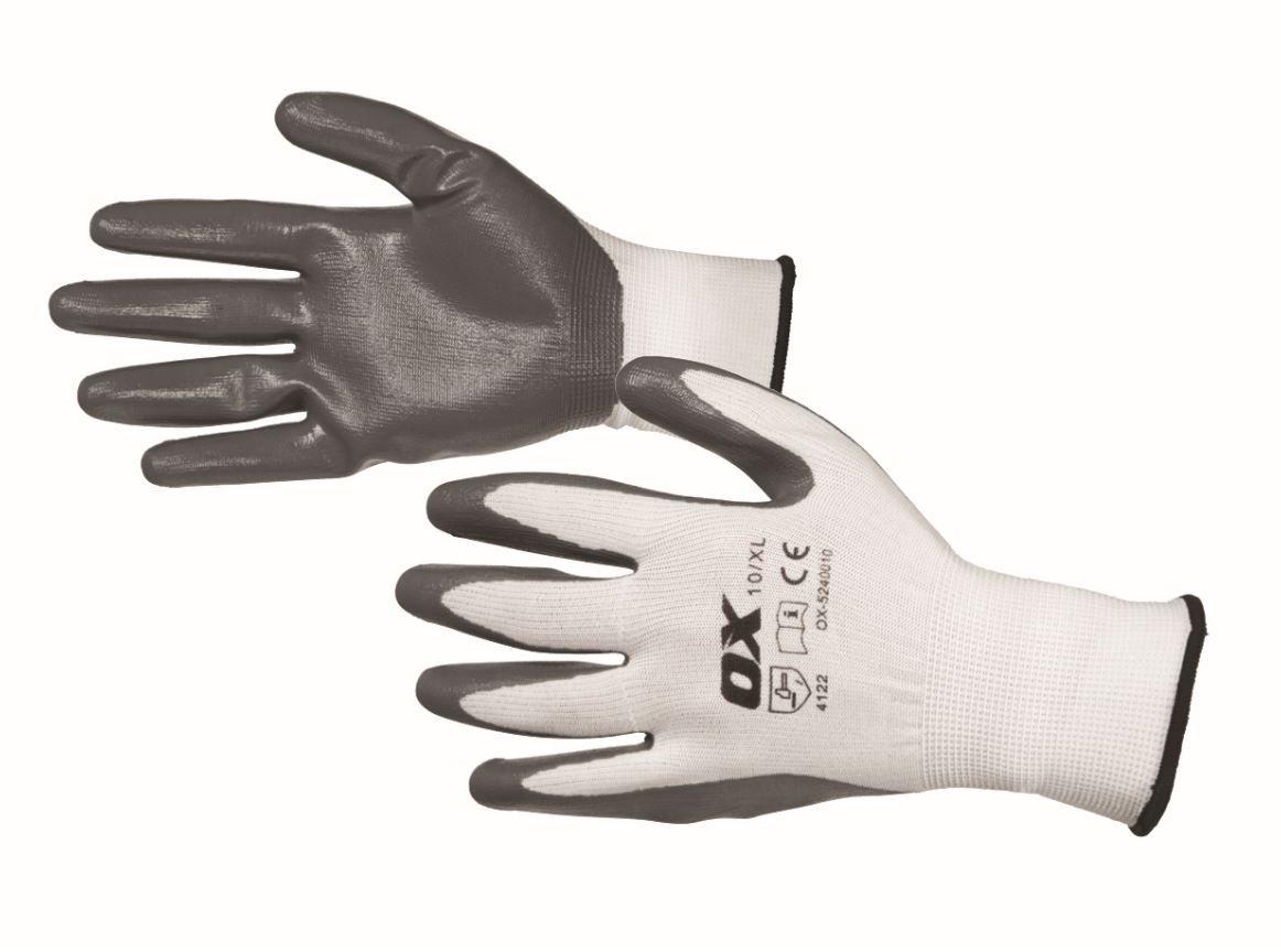 OX Safety Nitrile Flex Gloves Size 9 Large (L)