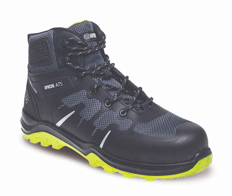 Apache Pegasus Metal Free Black Composite Safety Boots - Size 10