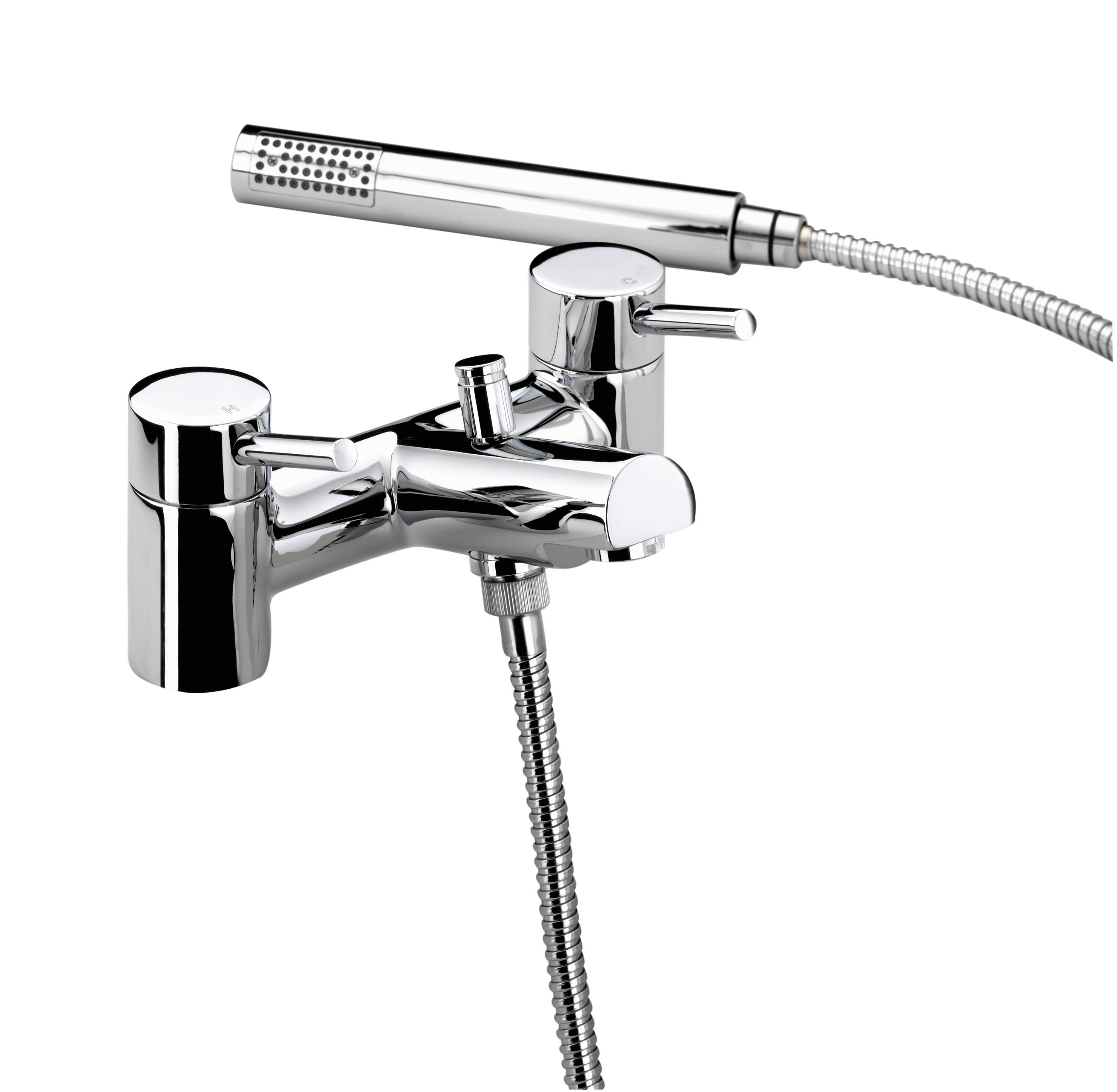 BRISTAN PRISM PILLAR BATH SHOWER MIXER CHROME