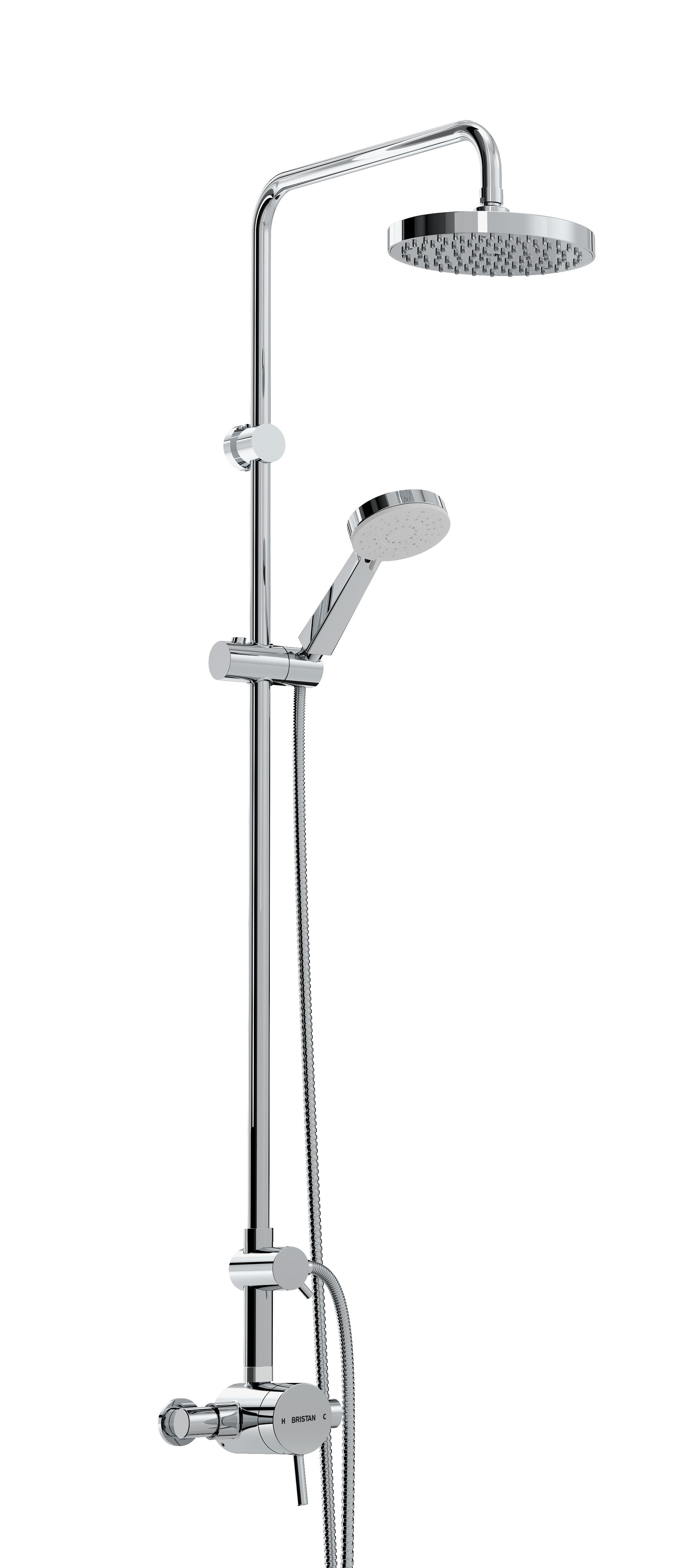 BRISTAN PRISM THERMOSTATIC EXPOSED SINGLE CONTROL SHOWER VALVE WITH ...