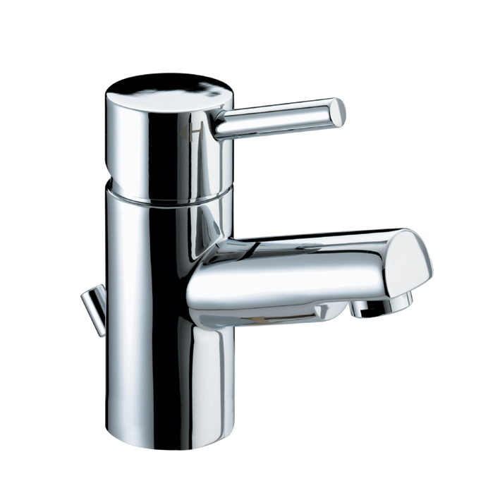BRISTAN PRISM BASIN MIXER TAP CHROME WITH ECO-CLICK & POP-UP WASTE