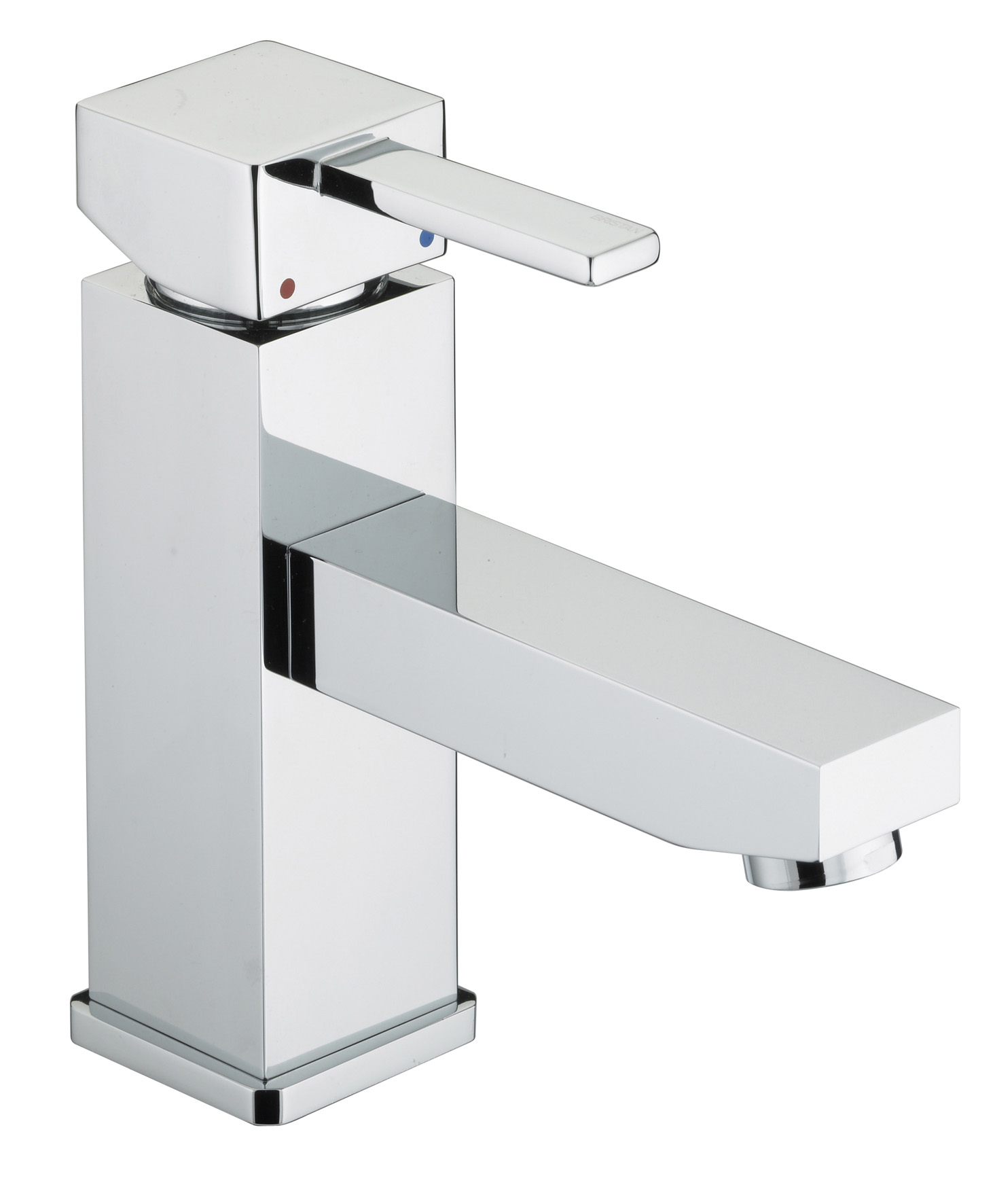BRISTAN QUADRATO BASIN MIXER WITH ECO-CLICK & POP-UP WASTE CHROME