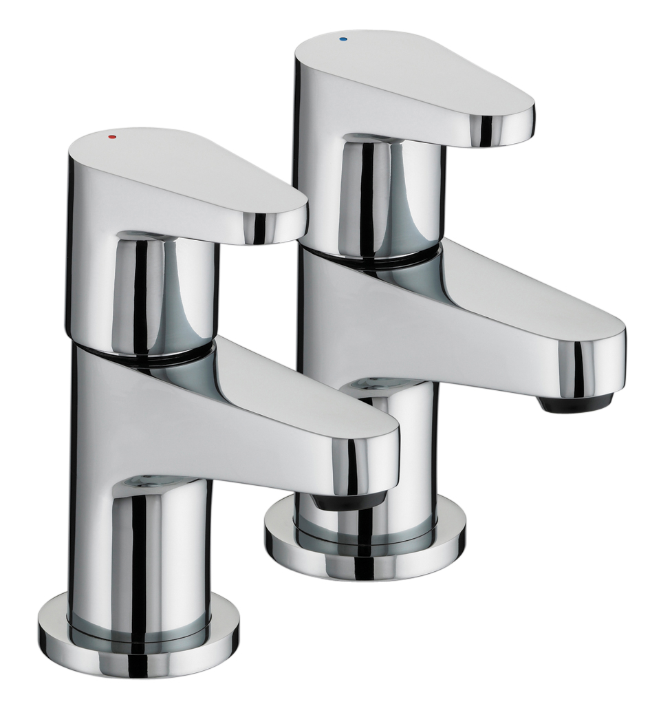 BRISTAN QUEST BASIN TAPS CHROME (PAIR) - QST 1/2 C