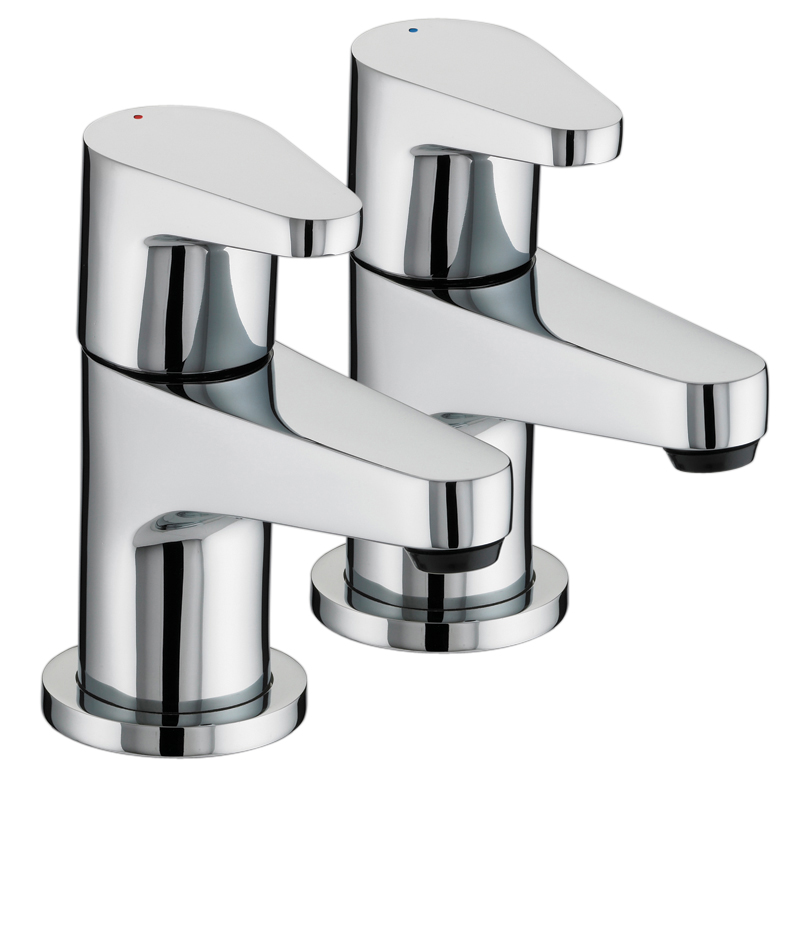 BRISTAN QUEST BATH TAPS CHROME (PAIR) - QST 3/4 C