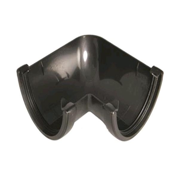 FLOPLAST RAH1CI HI-CAP (DEEPFLOW) GUTTER - 90* ANGLE - FAUX CAST IRON