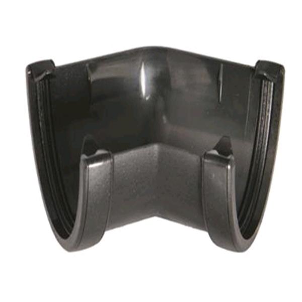 Floplast RAH2CI 115mm Hi-Cap (Deepflow) Gutter - 135* Angle - Faux Cast Iron