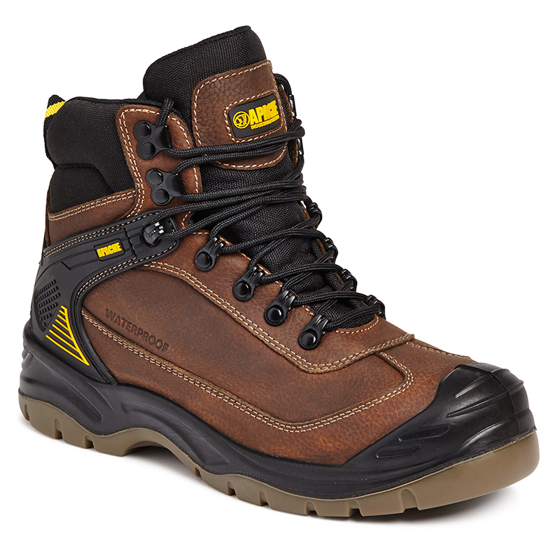 APACHE RANGER WATERPROOF BROWN ALL TERRAIN BOOTS - SIZE 10