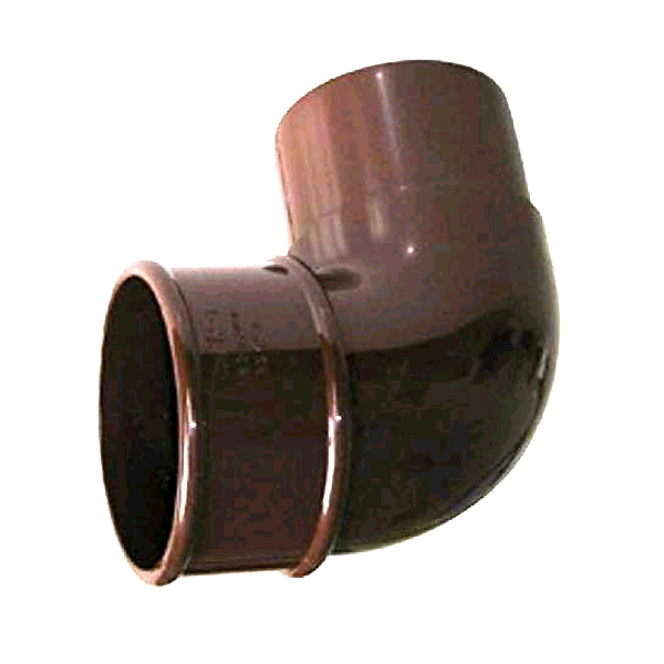 FLOPLAST RBM1BR MINIFLO 50MM DOWNPIPE - 92.5 DEGREE OFFSET BEND - BROWN