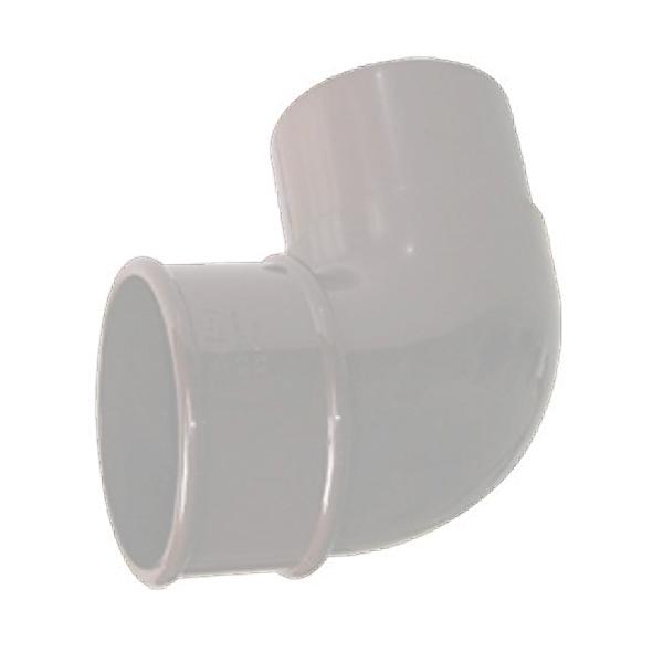 FLOPLAST RBM1WH MINIFLO 50MM DOWNPIPE - 92.5 DEGREE OFFSET BEND - WHITE