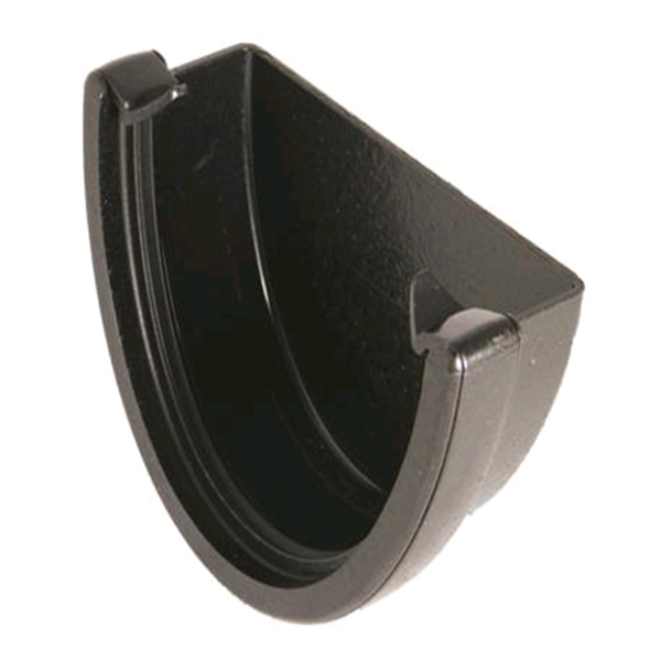 FLOPLAST REH1CI HI-CAP GUTTER - EXTERNAL STOPEND - FAUX CAST IRON