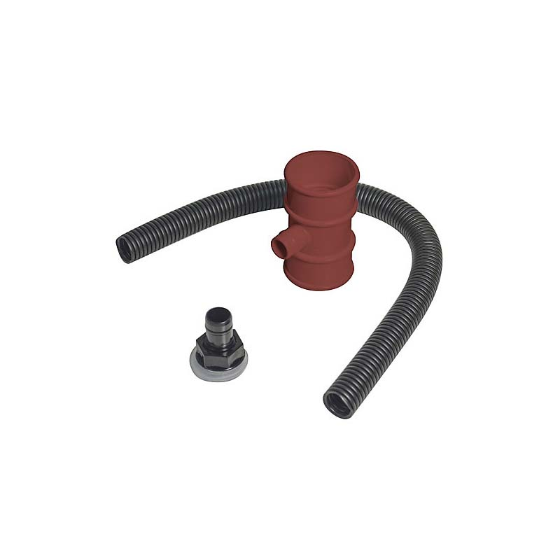 Floplast RVM1BR 50mm Minflo Downpipe - Rain Diverter (Water Butt Connector) - Brown