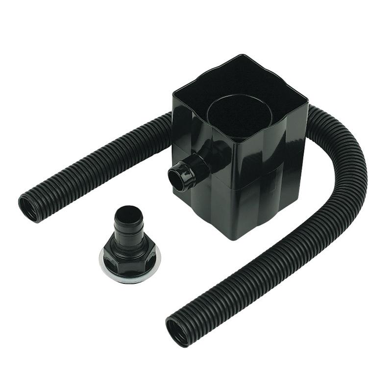 Floplast RVS1BL 65mm Square and 68mm Round Downpipe Rain Diverter - Black
