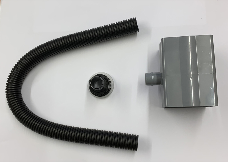 Floplast RVS1GR 65mm Square and 68mm Round Downpipe Diverter - Grey