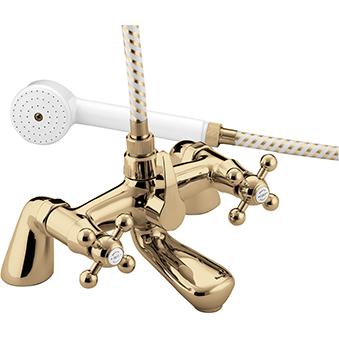 BRISTAN REGENCY PILLAR BATH SHOWER MIXER GOLD