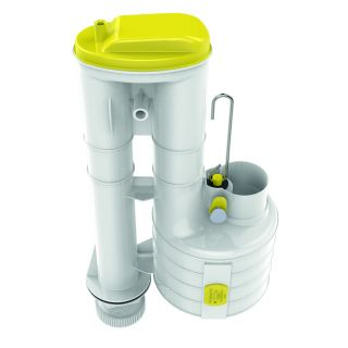"""Dudley S9 Hi-Flo Single Flush Syphon (Yellow) 9"""" with 1 1/2"""" Outlet - 313553"""