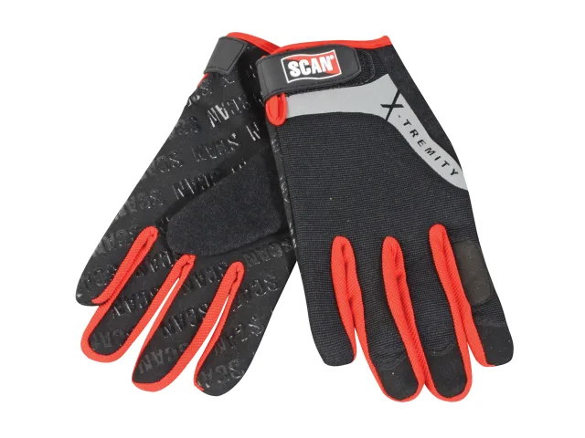 SCAN - WORK GLOVES WITH TOUCH SCREEN FUNCTION LARGE (SIZE 9)