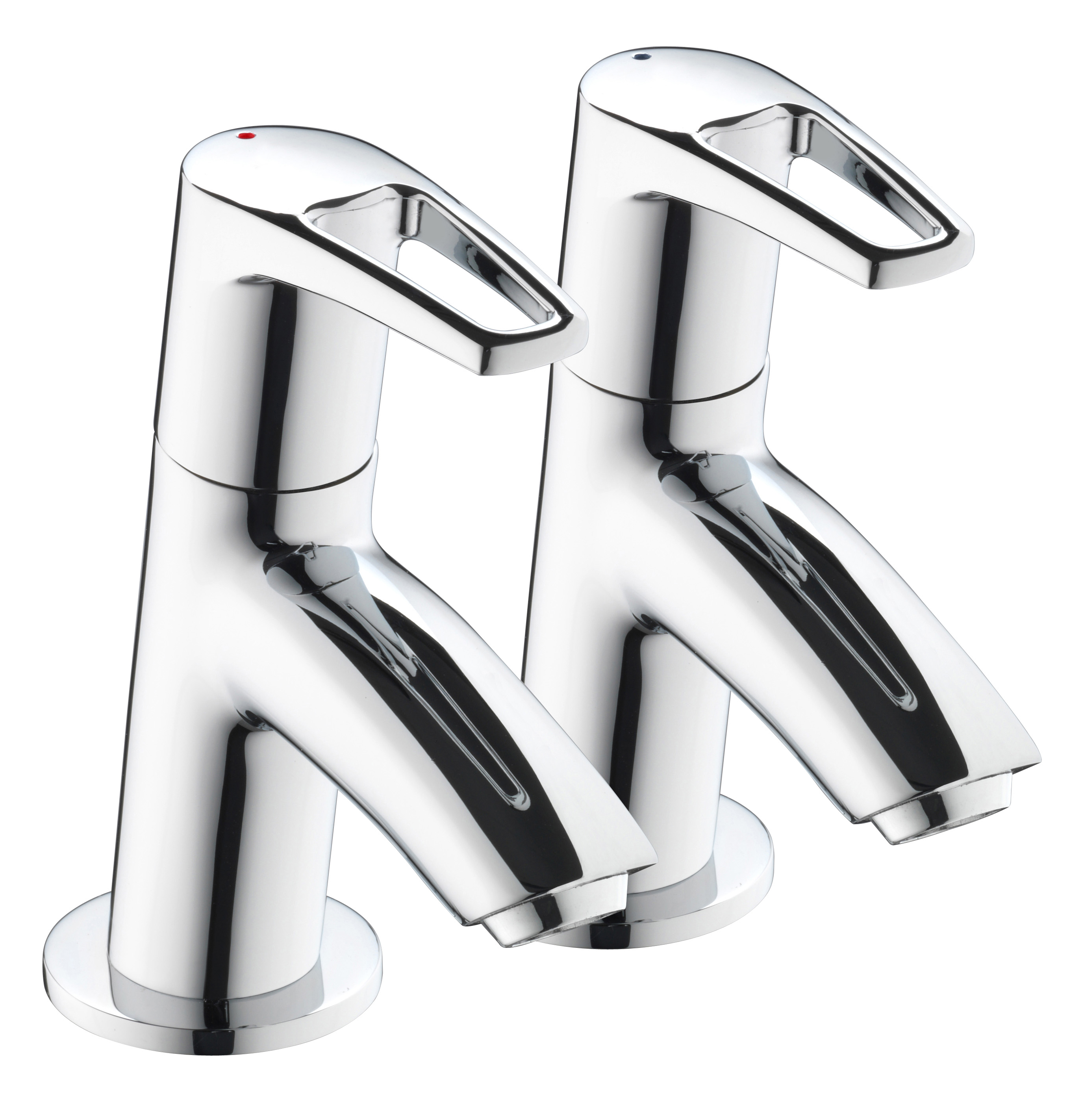 BRISTAN SMILE BASIN TAPS CHROME (PAIR)