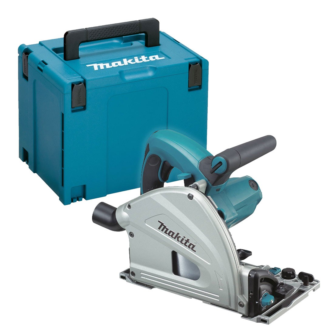 Makita SP6000J 110V 165mm Plunge Cut Saw - Depth Stopper for Splinter-Free Cutting
