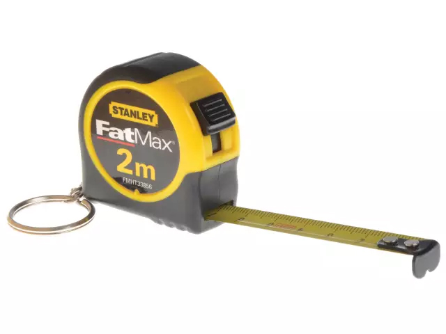 Stanley Key Ring Pocket Tape 2 Metre 13mm Wide - FMHT-33856