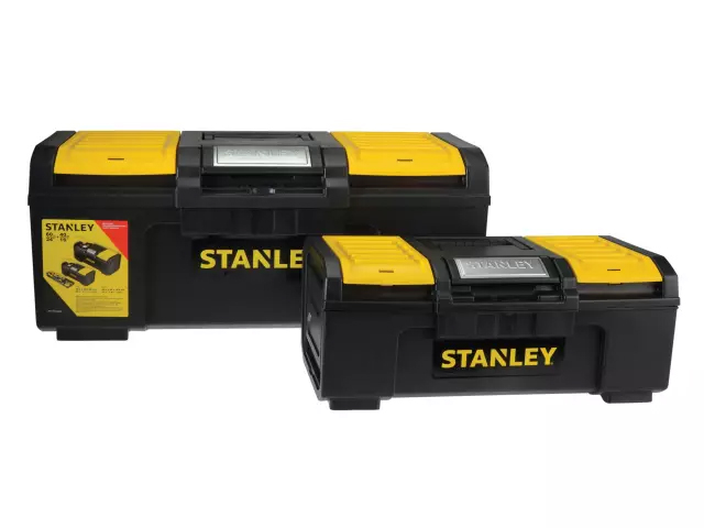 STANLEY ONE TOUCH DIY TOOLBOX TWIN PACK - STST1-71184
