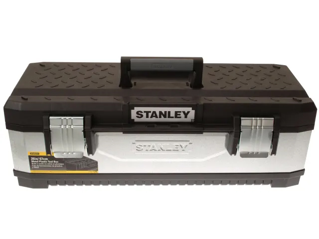 STANLEY GALVANISED METAL TOOLBOX 66CM (26IN) - 1-95-620