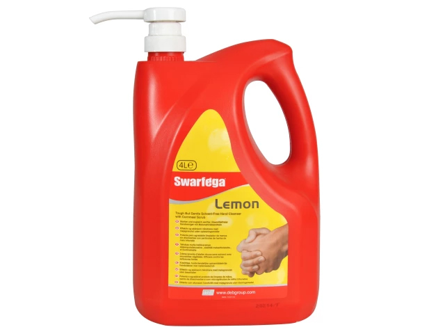 SWARFEGA LEMON HAND CLEANER PUMP TOP BOTTLE 4 LITRE - SWL4LMP