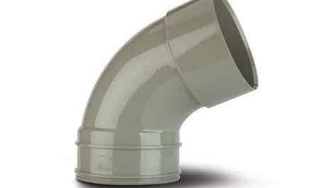 Polypipe 110mm / 4In Solvent Soil 112.5 Degree Bend Double Socket Grey