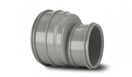 Polypipe Solvent Soil 110mm to 82mm Double Socket Reducer Grey