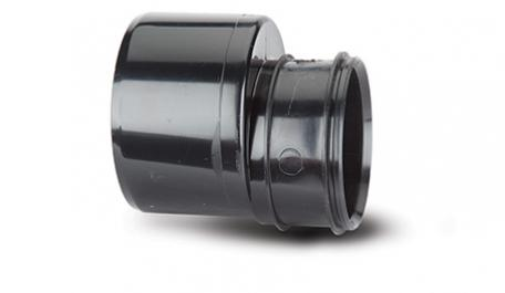 POLYPIPE SWD96B SOLVENT SOIL 110MM TO 82MM REDUCER SOCKET X SPIGOT BLACK