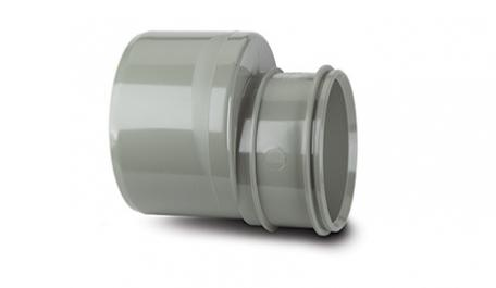 Polypipe Solvent Soil 110mm to 82mm Reducer Socket X Spigot Grey