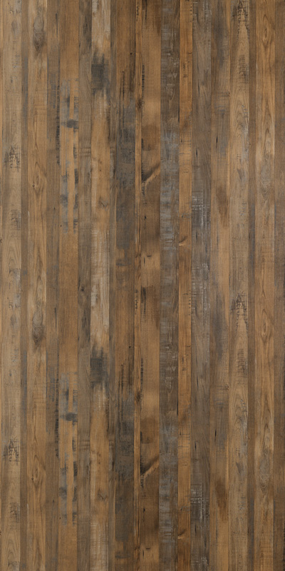MULTIPANEL LINDA BARKER WOOD - SALVAGED PLANKED ELM (9480) UNLIPPED 2400 X 1200MM