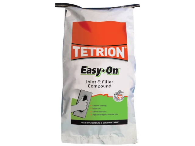 TETRION ALL PURPOSE EASY ON POWDER FILLER AND JOINTING COMPOUND SACK 5KG - EAS050