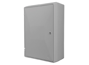 Electric Meter Box Surface Mounted with Lock and Key White - EB0012