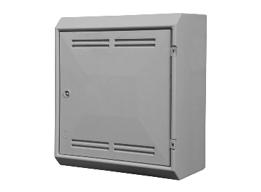 Gas Meter Box Surface Mounted Complete with Lock and Key - White - GB0002