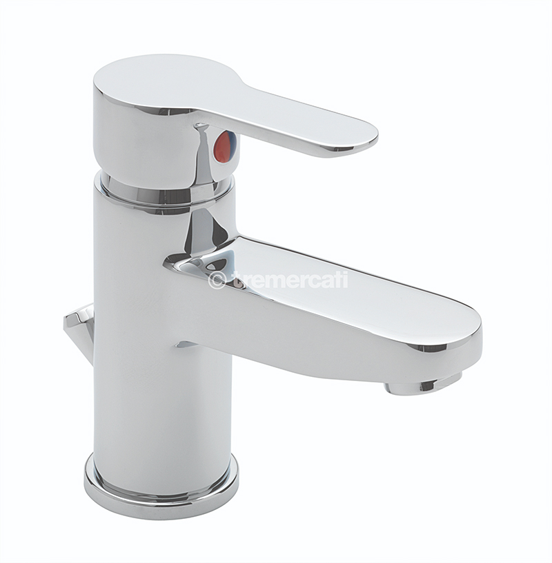 TRE MERCATI LOLLIPOP MONO BASIN MIXER WITH POP-UP WASTE - CHROME PLATED