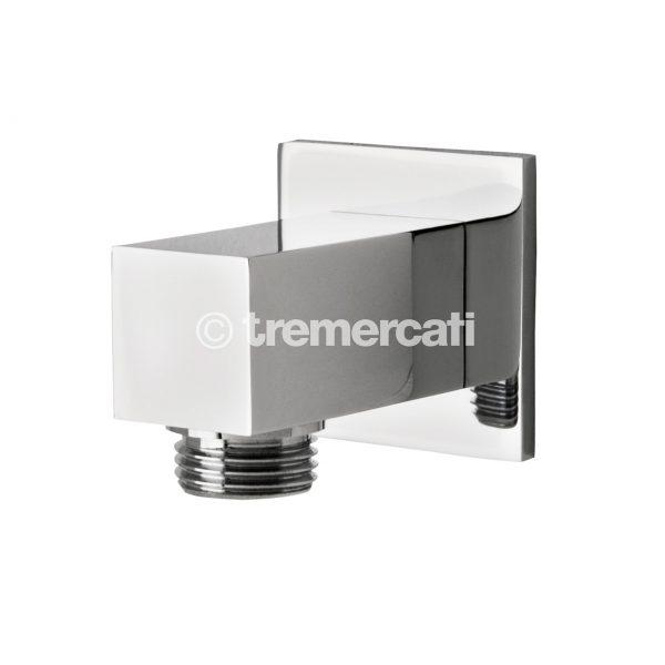 Tre Mercati Edge Square Wall Outlet - Chrome Finish